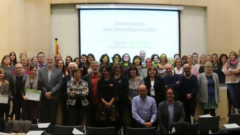 XV Trobada Anual de la Xarxa Catalana d'Hospitals sense Fum-Acreditacions 2017