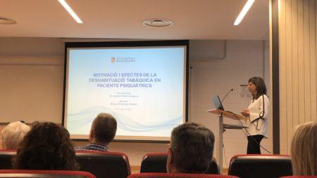 """Defensa de tesis """"Motivació i efectes del tractament de deshabituació tabàquica en pacients psiquiàtrics"""" per l'Antònia Raich"""