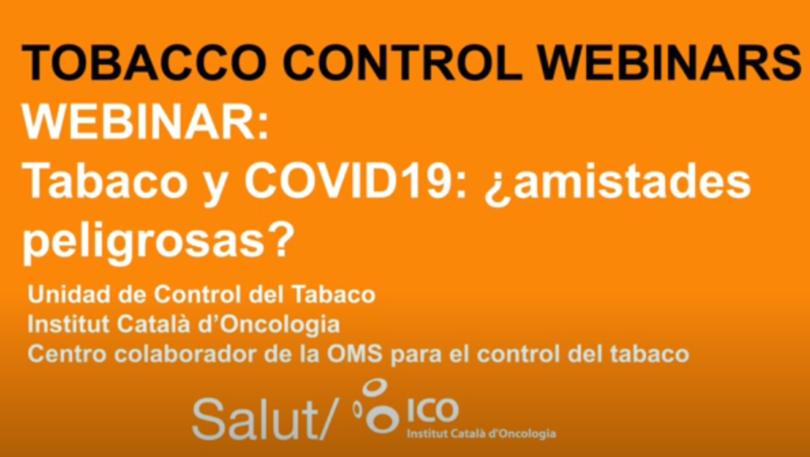 """Conclusions del webinar """"Tabac i COVID-19: amistats perilloses?"""""""