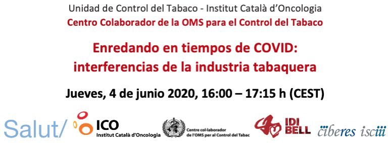 """""""Enredant en temps de COVID: interferències de la indústria tabaquera"""""""