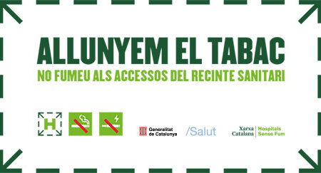 ICO is implementing the campaign Allunyem el tabac (Move tobacco far away)